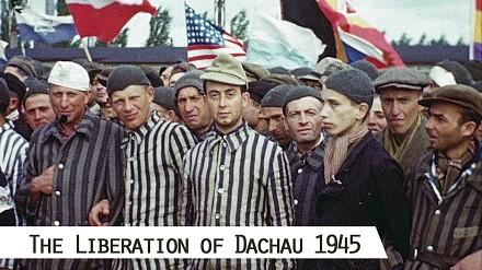 Film z wyzwolenia niemieckiego obozu koncentracyjnego w Dachau