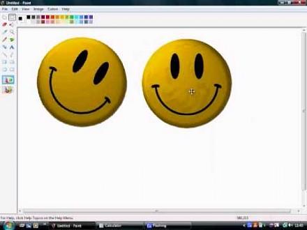 Obrót obiektu w MS Paint o mniej niż 90 stopni