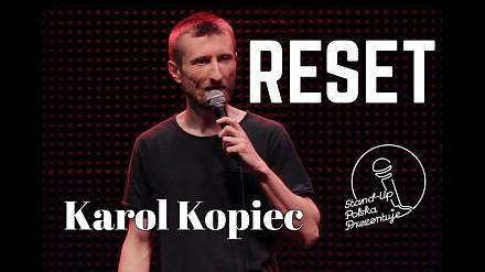 Karol Kopiec w swoim autorskim programie RESET