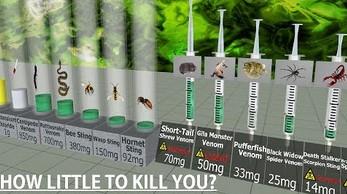 Porównanie toksyczności - dawki substancji, które są w stanie zabić człowieka