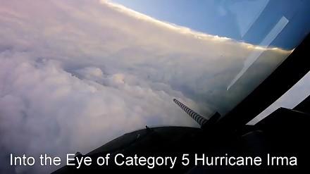 Lot w środek huraganu Irma