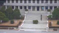 Dramatyczne nagranie z ucieczki żołnierza z Korei Północnej