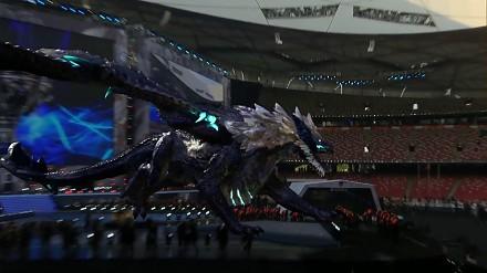 Wirtualny smok wpada na stadion