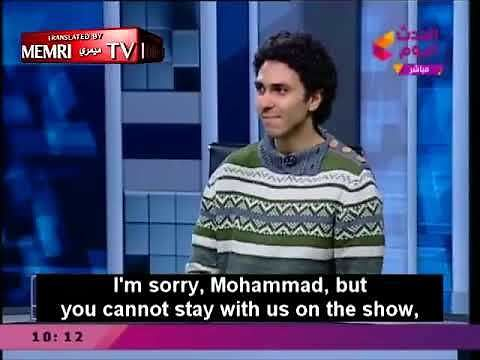Ateista w egipskim studiu telewizyjnym