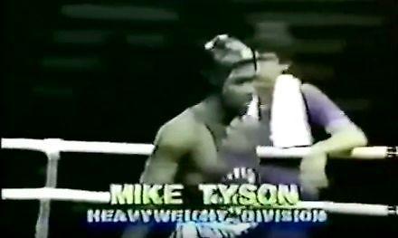 15-letni Mike Tyson w swojej pierwszej walce