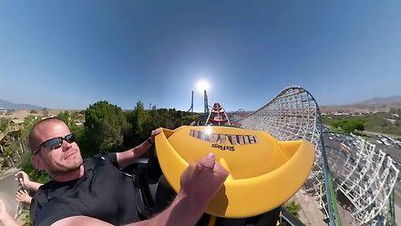 GoPro ze stabilizacją na rollercoasterze